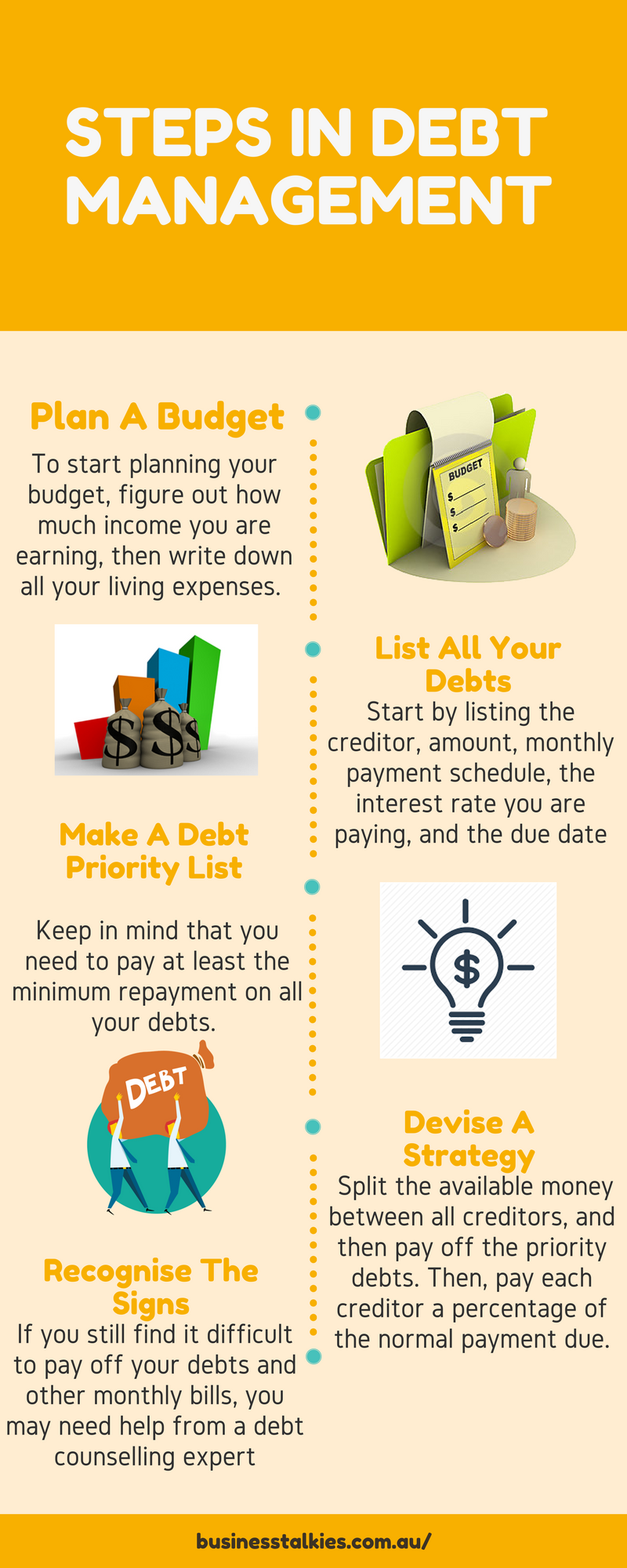 Steps in Debt Management